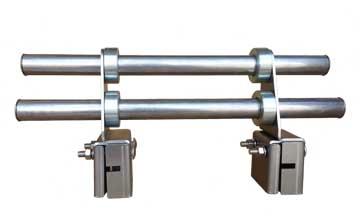 custom snow rail snow fence for 90 degree mechanical lock seams, 2 bar snow fence