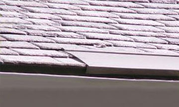 Heat Tape Slate Roofs: Prevent ice dams from forming on the edges of slate roofs using HotSlateLOK